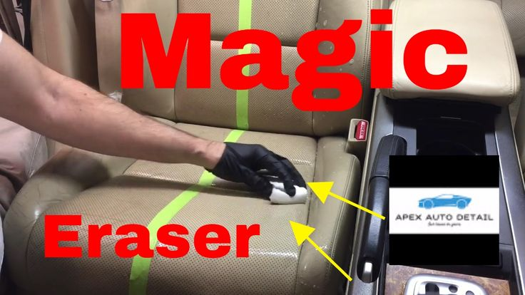 Magic Eraser and how to clean leather seats. - YouTube