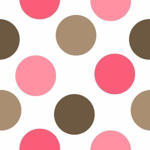 Pink and Brown Polka Dot Pattern