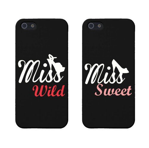 BFF Phone Covers Miss Wild and Miss Sweet Matching Phone Cases for Iphone 5 5s Gift for Best Friends by 365 in love