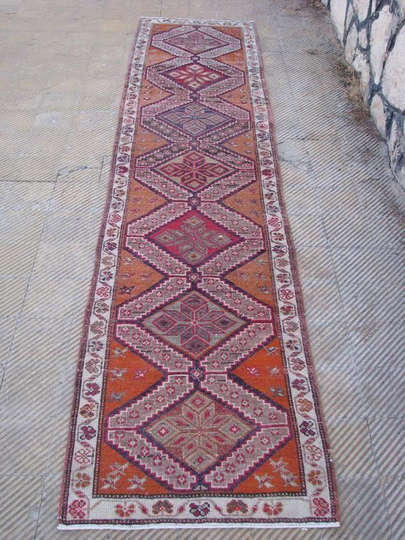 Turkish Runner Rug Vintage Runner Rug Bohemian Runner Rug Hallway