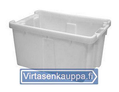 Muuttolaatikot | Moving boxes - Laadukkaat ja kestävät muuttolaatikot, kannet muuttolaatikkoon, sekä muuttolaatikon pyörät laatikoiden helppoa siirtämistä varten löydät täältä. Laatikot on mahdollista pinota sisäkkäin tai päällekkäin ja ne ovat elintarvikehyväksyttyä muovia. Virtasenkauppa - Verkkokauppa - Online store.