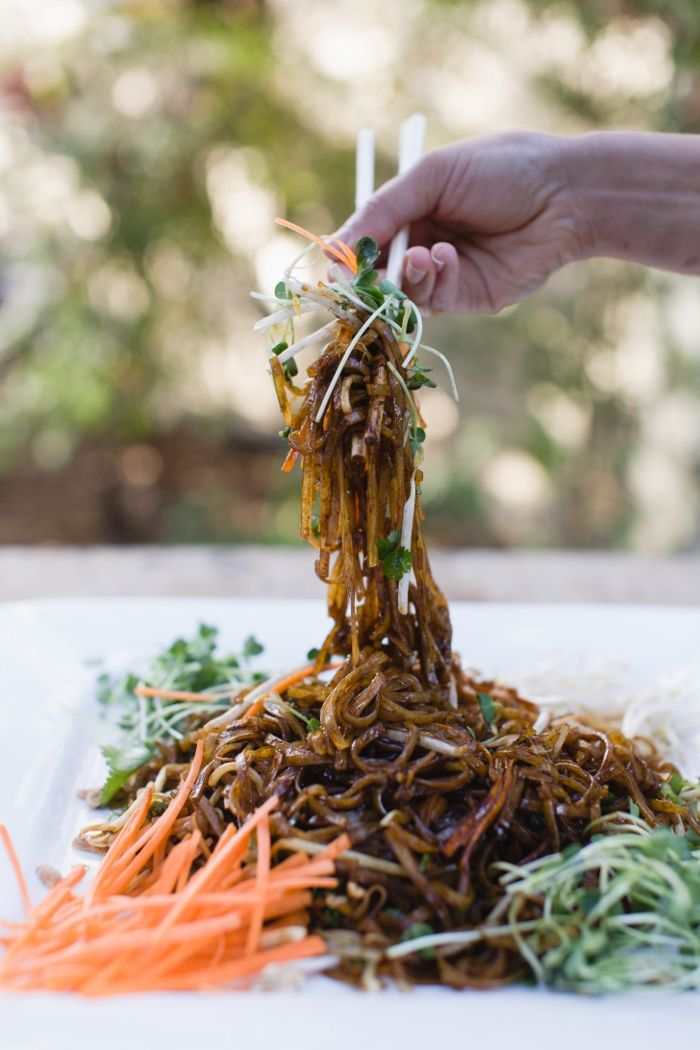 Vegan Pad Thai - Using Tamari (gluten-free soy sauce) instead of fish sauce to prepare this beloved comfort food, you can create this tasty gluten-free, vegan version of Pad Thai whenever you need to get your Thai food fix.
