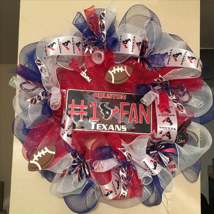 Houston Texan Mesh Wreath.