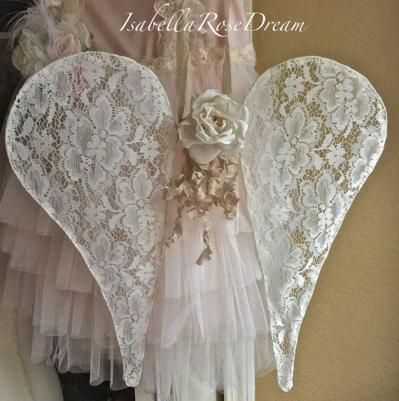 Lace angel wings french inspired wings lace by IsabellaRoseDream