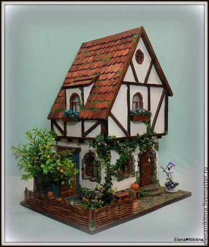Кукольный дом ручной работы. Ярмарка Мастеров - ручная работа. Купить Домик с яблоней.. Handmade. Кукольный дом, мышонок, микро