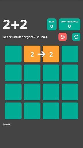 2+2 adalah permainan yang sangat sederhana. Hanya memindahkan angka dalam kotak (2+2=4) dan hasilnya di tambahkan dengan angka yang sama, sampai angka dalam kotak menjadi 2048. Dapatkah Anda mencapai 2048? Ini bukan tugas yang mudah! Nikmati dan menang!<p>Permainan ini tidak membutuhkan koneksi internet.<br>Fitur: Tombol Restart dan tombol Undo.