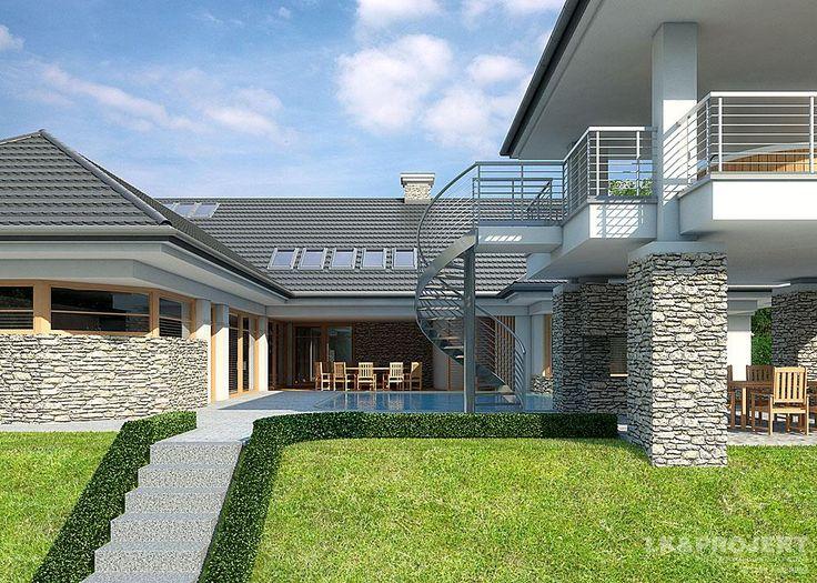 Projekty domów LK&Projekt LK&943 wizualizacja 3