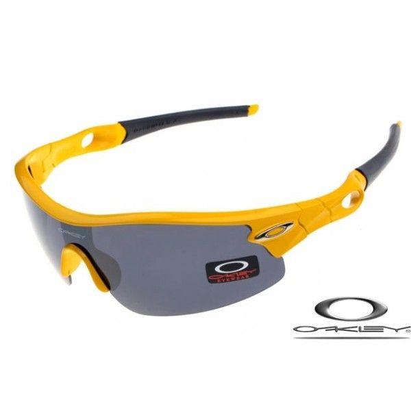 Oakley Radar Pitch Sunglasses with Polished Yellow Frame/Black Iridium Lens