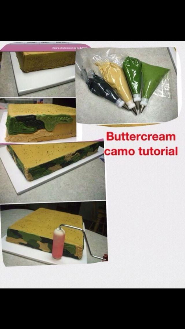 Diy Camo cake