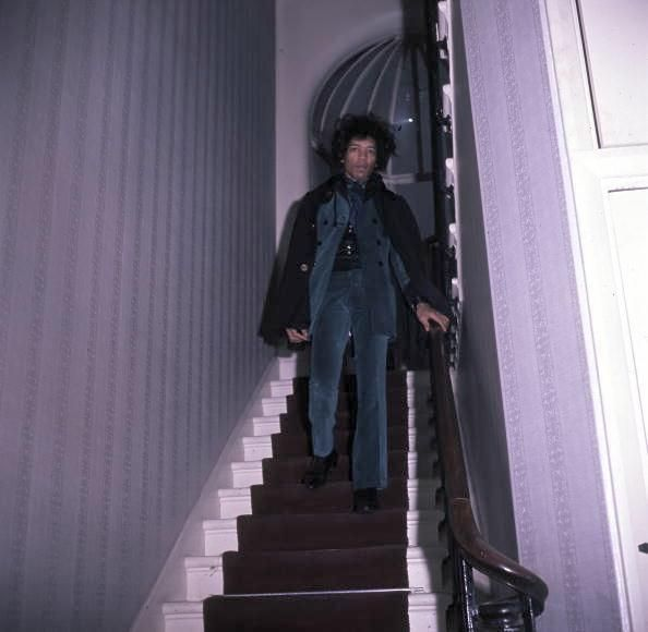 Jimi Hendrix when he was at home in London.
