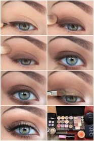 Brown and gold eye makeup