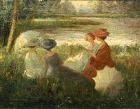 Vier meisjes in het park, Guillaume Eberhard