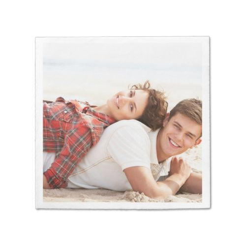 Personalized photo paper napkin Make your own!