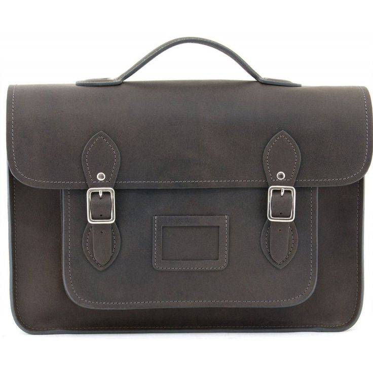 Yoshi Bixby Leather Satchel - YB101 35H Grey Hunter