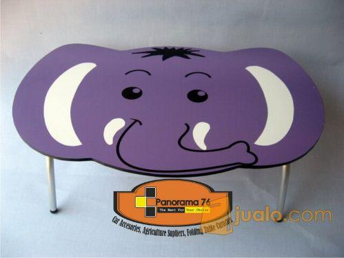 Meja Lipat Karakter Gajah Lucu untuk anak-anak Retail/Grosir Meja Lipat Karakter Lucu untuk anak-anak ,ringan dan kok