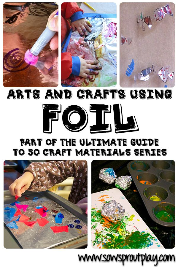 Arts and #Crafts for #Kids Using Foil