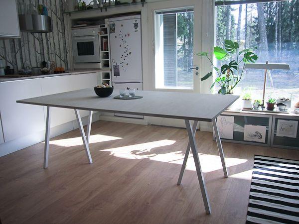 Hay Loop stands and DIY plywood table