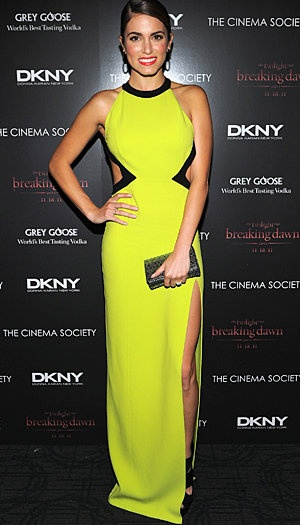 <3 this dress for its neon color and cutouts but is not too 'loud'