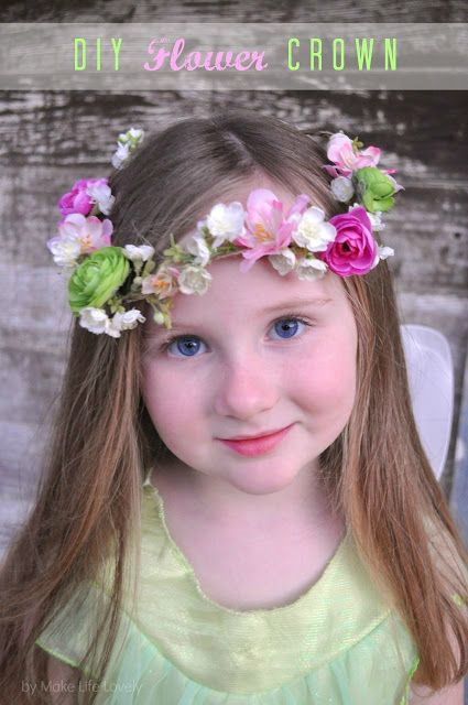 A DIY tutorial for dainty flower crowns that are perfect for youngsters and girly girls, and as they show, perfect for spring/fairy birthday parties, festivals, random celebrations, and of course, for her to wear at home for dress up!
