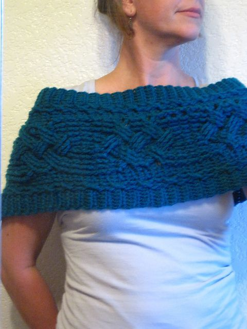 Looks like knit...but its not! ... Cabled Warmer: free pattern ...