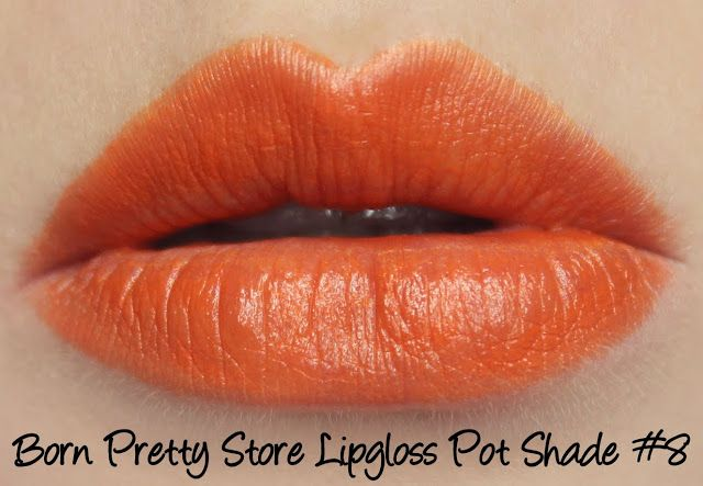 Born Pretty Store Lipgloss/Lipstick Pots - Shade #8 Swatches & Review