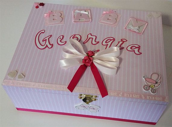 Check out this item in my Etsy shop https://www.etsy.com/au/listing/251194707/baby-girl-personalised-keepsake-box