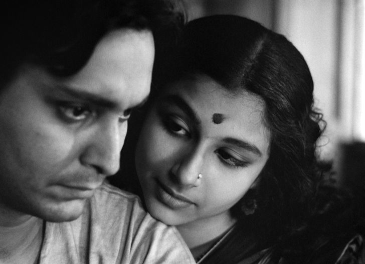 Soumitra Chatterjee and Sharmila Tagore in Satyajit Ray's Apur Sansar (The World of Apu) - 1959