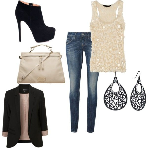 What a perfect outfit for a casual night out...maybe need to try this Saturday night.    Business Casual, created by kailynn-marie on Polyvore