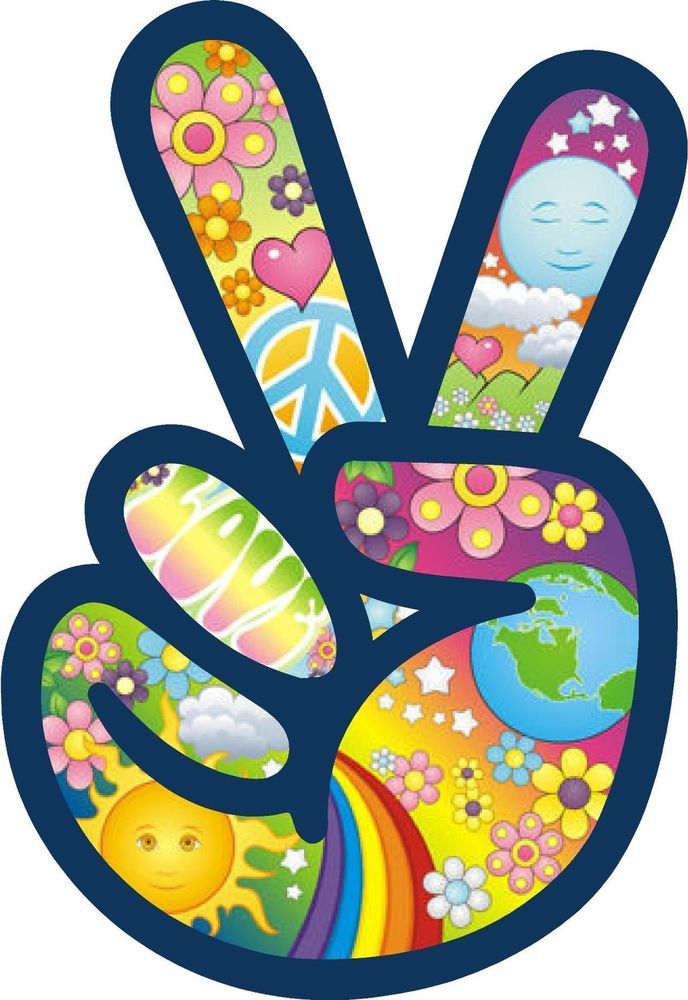 Details about PEACE SIGN LOGO STICKER VINYL DECAL LOVE ...