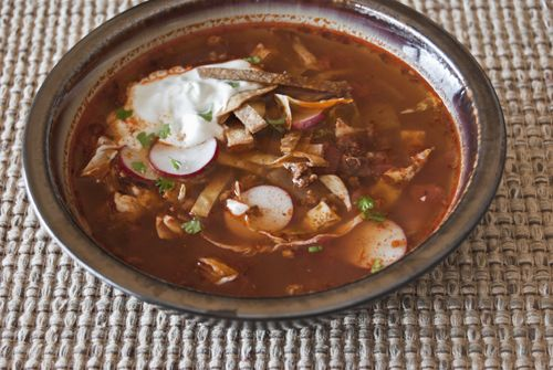 Tina's take on our Tortilla Soup with Lime Crema, visibly bursting ...