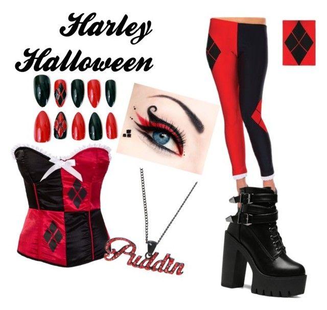 """Harley Quinn Halloween"" by slashbat on Polyvore"