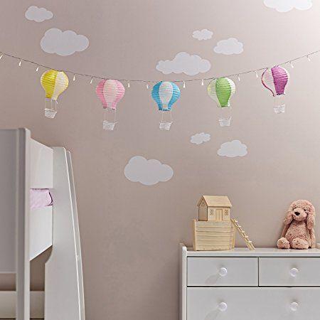 Inspirational er LED Lichterkette mit Deko Hei luftballons Kinderzimmer Deko Batteriebetrieb Lightsfun Amazon de