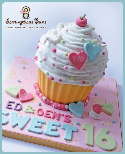 Sweet 16 Giant Cupcake