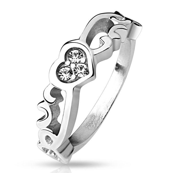 Dámský prsten - srdce