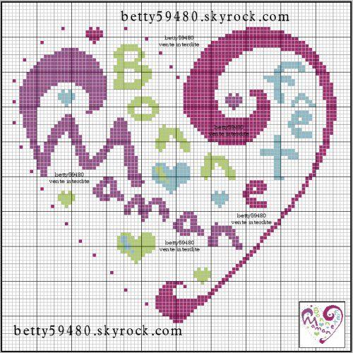 femme - woman - broderie - embroidery - maman - Point de croix - Blog : http://broderiemimie44.canalblog.com/