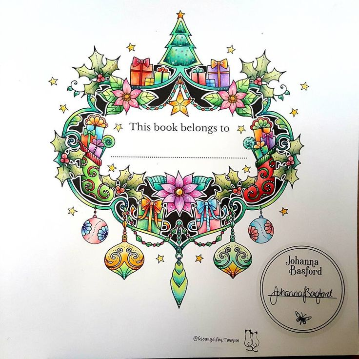 """Gefällt 597 Mal, 16 Kommentare - TwoYun's[ South Korea  ] (@sseungei) auf Instagram: """"⛦2016. 10. 20. . .  Johanna's Christmas Coloring Book  ➡ No.1 ; The Finished Painting. ☃❄ ➡…"""""""
