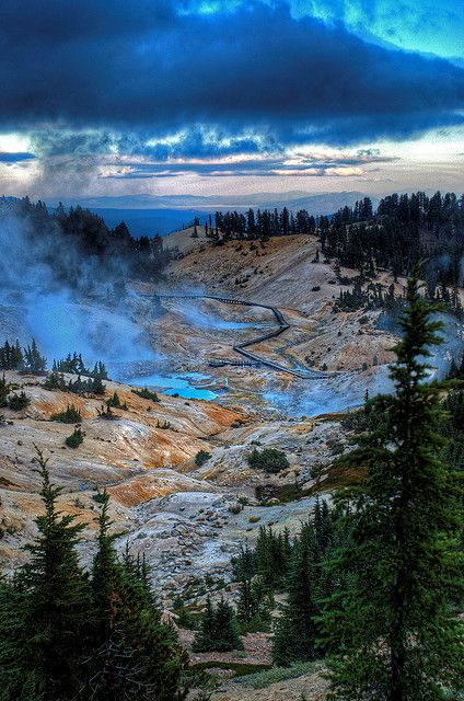 Bumpass Hell overlook, Lassen National Park, Redding, CA