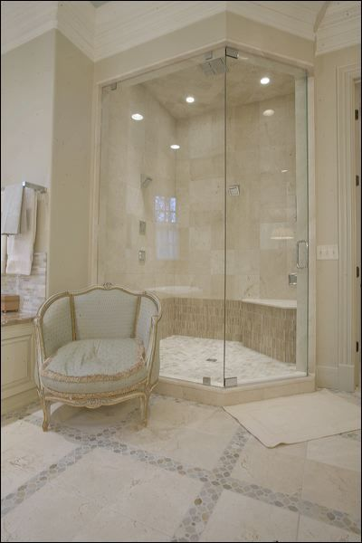 Crema Marfil Leathered with Desert Sand Mosaics   traditional   bathroom    nashville   mary elizabeth hulsey. Best 25  Discount tile ideas on Pinterest   Small tile shower