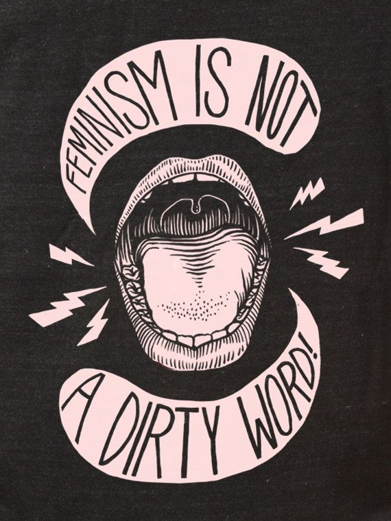 Feminism is NOT a Dirty Word Unisex Tank Top by CatCoven on Etsy