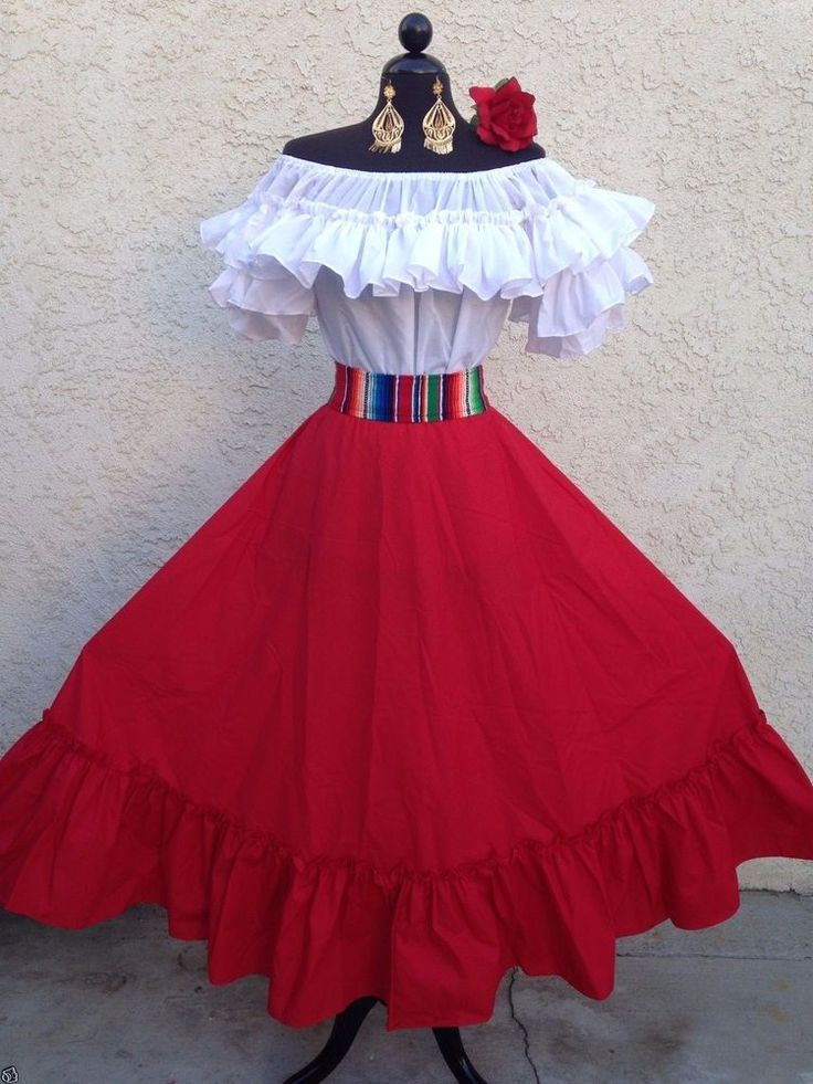 MEXICAN FIESTA,5 DE MAYO,WEDDING DRESS OFF SHOULDER 2 PIECE W/SARAPE SASH  | Clothing, Shoes & Accessories, Wedding & Formal Occasion, Wedding Dresses | eBay!