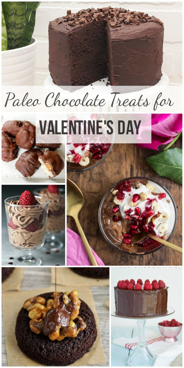 """Paleo Chocolate Treats for Valentine's Day"" from Delicious Meets Healthy #paleo #grainfree #glutenfree #valentines"
