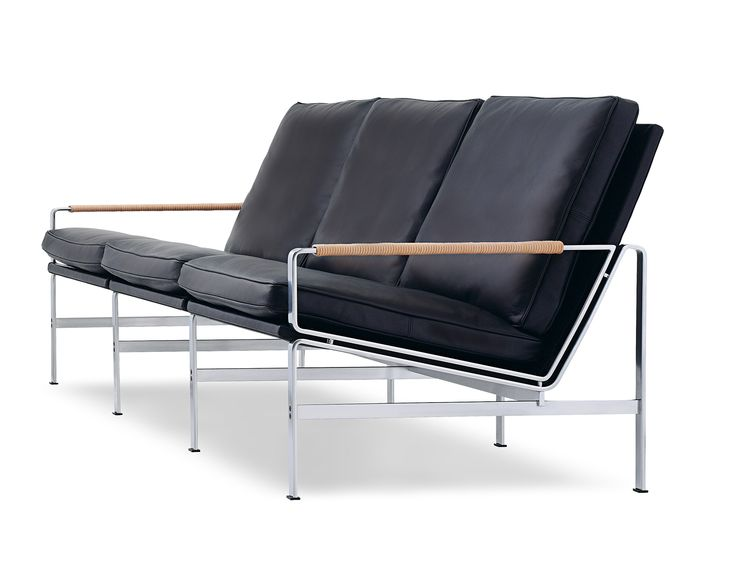 EASY #CHAIR AND #SOFA #karkula  The easy chair and sofa was designed in 1968. Today, 40 years later, the chrome-plated steel frame of the chair and sofa is today being produced at the same factory by the same man produced and on the same tools as back in the sixties.
