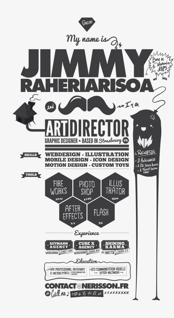Creative and fun resume. It's so interesting to see how people portray themselves on paper #design #resume