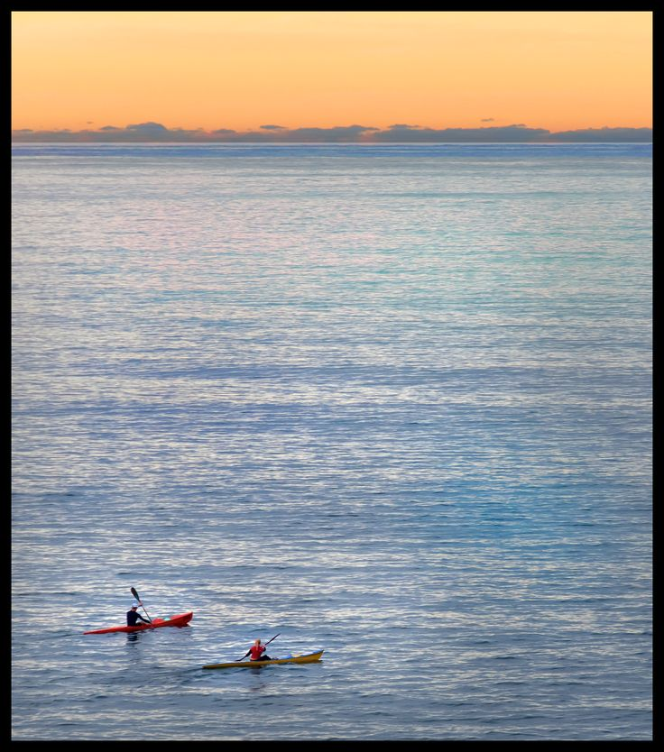 Kayak at sunset, Sunshine Coast, Queensland, Australia, Roberto Portolese
