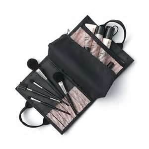 Mary Kay Brush Collection. Set includes: Eye Crease Brush, Eyeline/Eyebrow Brush, Eye Color Brush, and Cheek Brush.  Comes un the newly designed Mary Kay Cosmetic Bag, which has room for your Mary Kay Compact, lip gloss, mascara, and other makeup applicators.