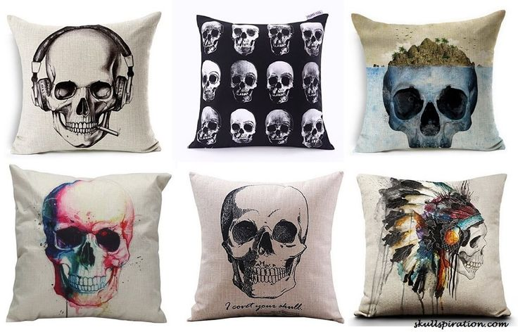 Skullspiration Web Site. Featured: Skull Pillows
