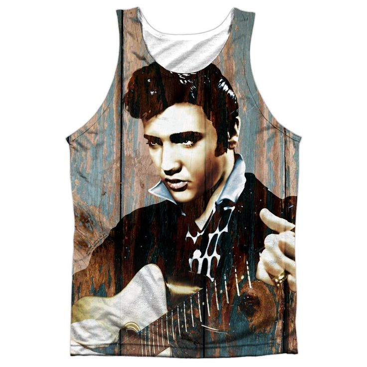 "Checkout our #LicensedGear products FREE SHIPPING + 10% OFF Coupon Code ""Official"" Elvis/woodgrain -adult 100% Poly Tank T- Shirt - Elvis/woodgrain -adult 100% Poly Tank T- Shirt - Price: $24.99. Buy now at https://officiallylicensedgear.com/elvis-woodgrain-adult-100-poly-tank-t-shirt-licensed"