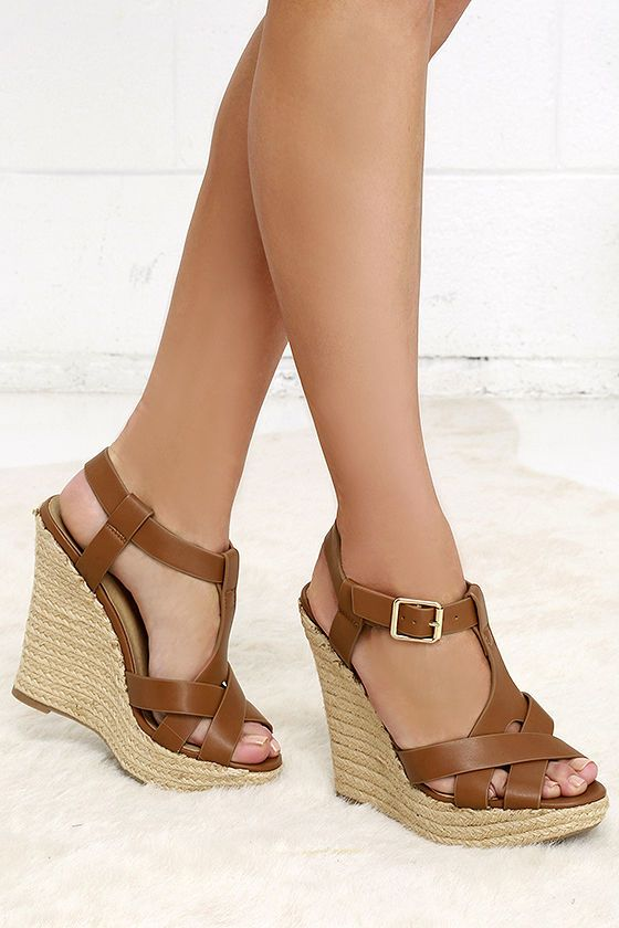 Dancing Time Whiskey Brown Espadrille Wedges at Lulus.com!