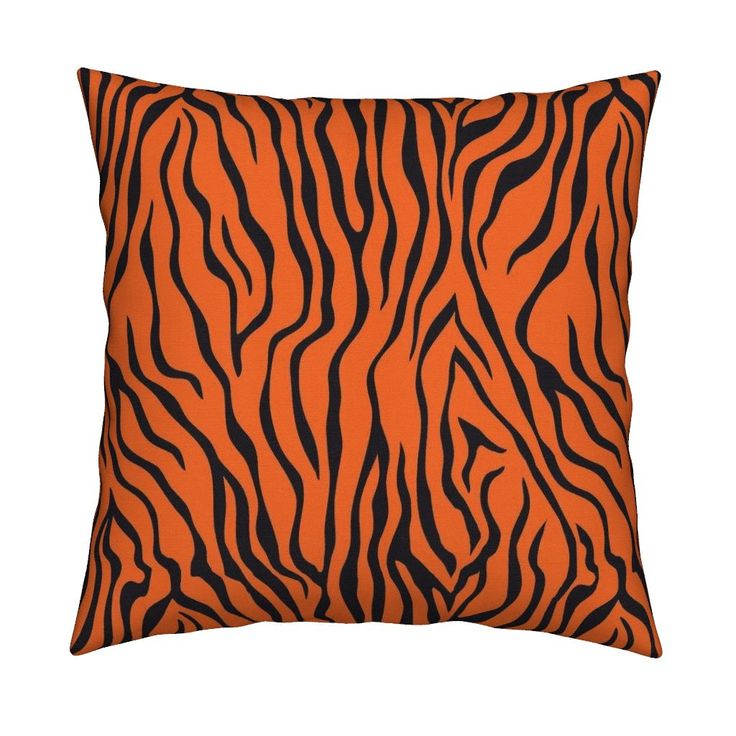 Tiger 14 Square Pillow by susiprint | Roostery Home Decor