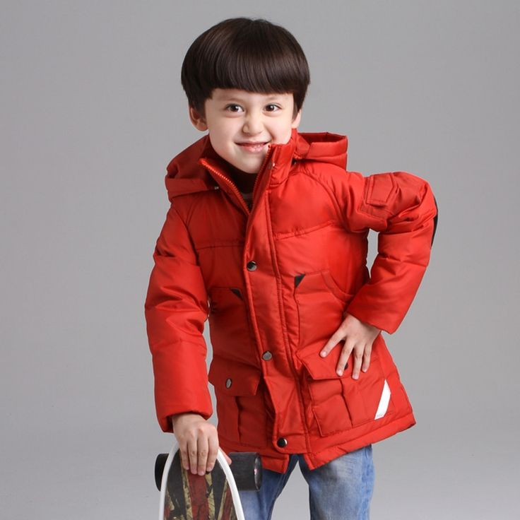 43.90$  Buy now - http://ali0bh.worldwells.pw/go.php?t=32493894171 - Children Boys Winter Jacket Thick Warm Down Jacket For Boys 80% Duck Down Boys Winter Outerwear & Coat 3-12 Years Kids Clothing